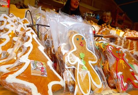 Marché de noel biscuits pain d'epices