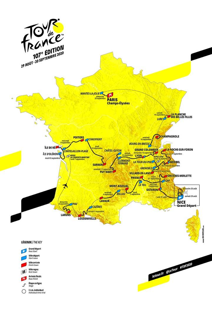 Tour De France 2020 Grenoble Alpes Grenoble France