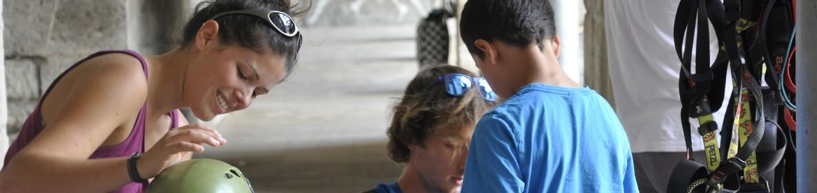 equipement baudriers enfants acrobastille